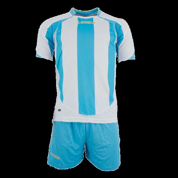 Completo da Calcio Maglietta e Pantaloncini Legea Madrid Bianco/Celeste