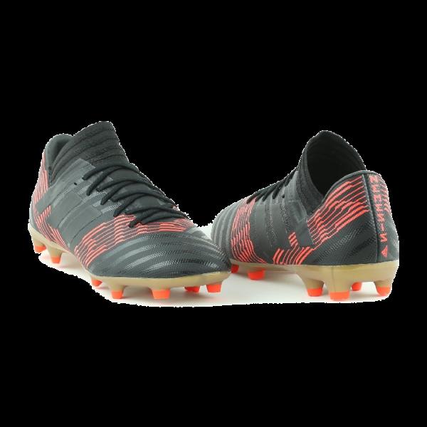 Scarpe da Calcio da Uomo Adidas Nemeziz 17.3 FG Nero / Rosso Solare