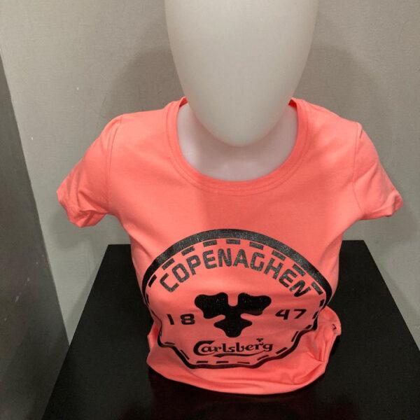 Carlsberg T-Shirt Donna Salmone m/c