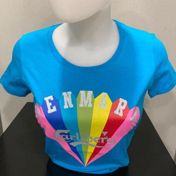 Carlsberg T-Shirt Donna Turchese m/c